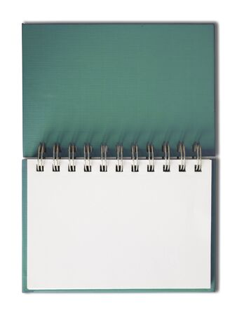 Green cover Notebook horizontal single blank page Stock Photo - 7236036
