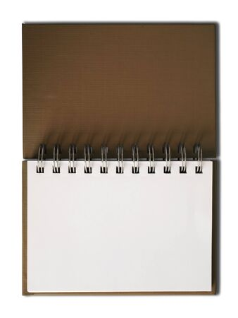 Brown Notebook horizontal single blank page Stock Photo - 7236052