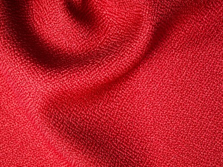Red fabric texture sample for interior design photo