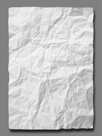 White crumpled paper on Gray background isolated Stock Photo - 7266954