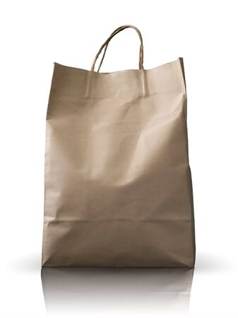 Front of  Brown Crumpled peper Bag form the market photo