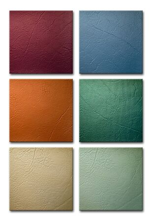 leatherette: six sample color and texture of leatherette
