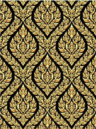Traditional Thai style gold painting art  photo