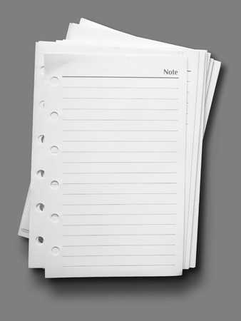 White note paper with line on gray background photo