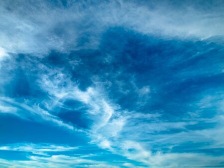 Cloud abstract in blue sky