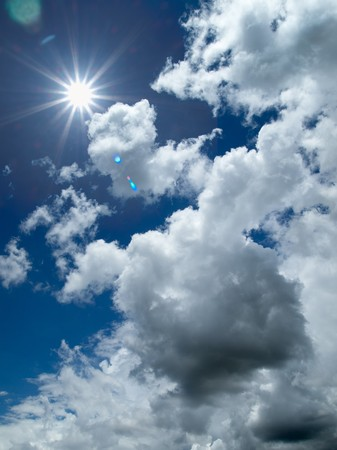 cloudy: Sunny light White cloud and bule sky