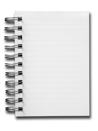 notebook paper: Blank one face white paper notebook Stock Photo