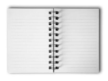 Blank two face white paper notebook Stock Photo - 7534833