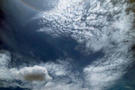 White cloud and blue sky abstract Stock Photo - 7594272