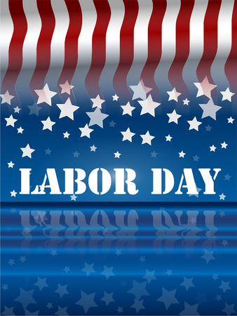 labor day: america labor day Illustration