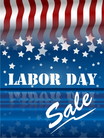 america labor day sale Stock Vector - 7701834