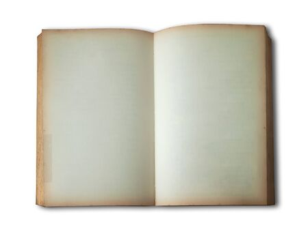note book: old book open on white background