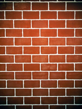 Modern red Brick wall and white line texture Stock Photo - 7701878