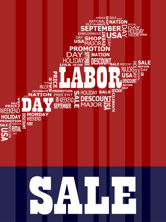 labor day: Labor Day in the usa Holiday Illustration
