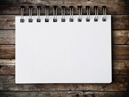 white blank note paper on Old wood panel Stock Photo - 7860438