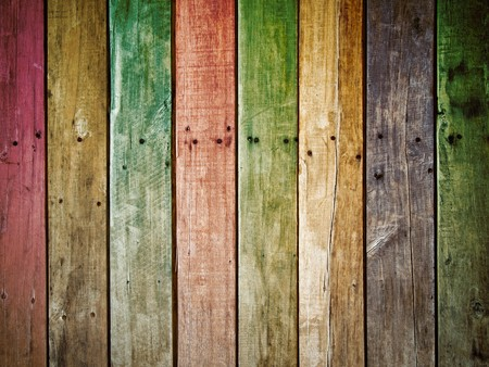 colorful old grunge wood panel