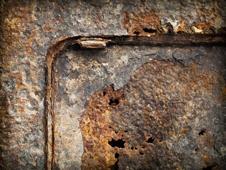 Texture of old grunge rust steel plate wall Stock Photo - 7860532
