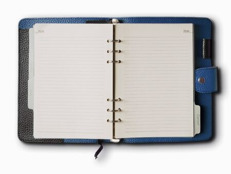 Black and Blue leather cover of binder notebook Stock Photo - 8042380