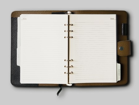 Black and Brown leather cover of binder notebook Stock Photo - 8042377