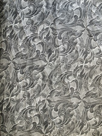 antiqued: Old thai art on leather pattern background
