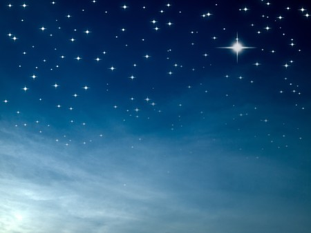 dark night: Starry night many bright star in blue sky