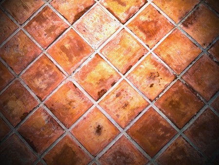 Ceramic wall tiles square red Stock Photo - 8116108