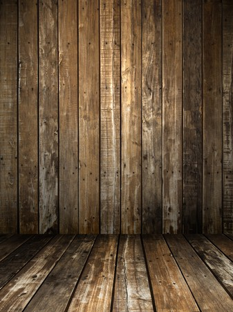 Grunge wooden panel and floor room background Stock Photo - 8174215