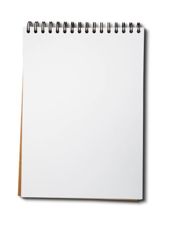 Blank one face white paper notebook vertical photo