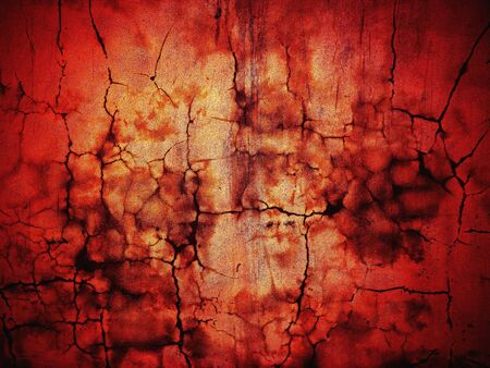 Abstract image of a red wall plastered wet cement for christmas Stock Photo - 8255156