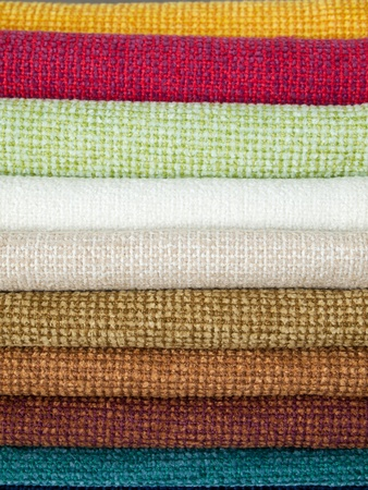 Many examples of colored cotton lining layer Horizontal photo