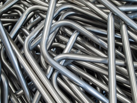 Pipe bending forming for use in directors furniture Stock Photo