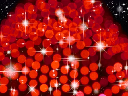 Red background and bright star background Stock Photo - 8471297