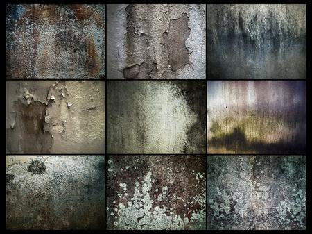 cemento: Varios abstracci�n de la antigua muralla de Grunge