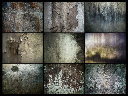 cement: Various Abstract of Grunge Old Wall Stock Photo
