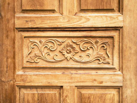 vow: Pattern carved door vow made from teak