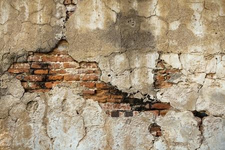Texture of Break the old brick walls inside