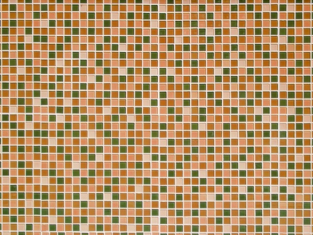 mosaic floor: Bright orange ceramic Wall background