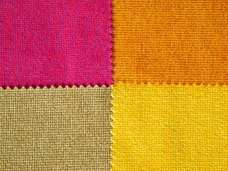 Sample four hot tone cotton for making furniture Stock Photo