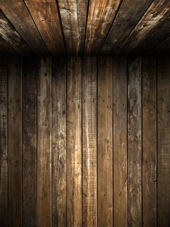 Old Grunge wood wall and ceiling in the room Stock Photo - 9413645