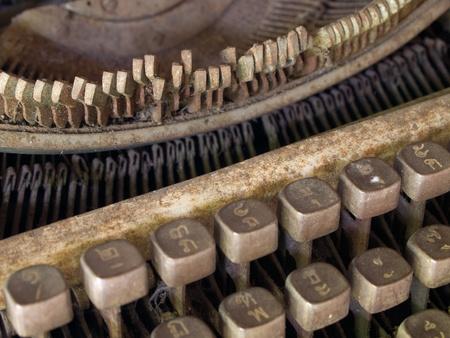 Very old typewriter Thai keys photo