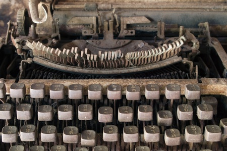 Front of Very old typewriter Thai keys photo