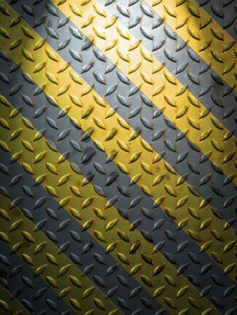 siderurgia: L�nea de placa y amarillo de suelo acero con luz superior Foto de archivo