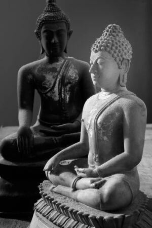 stone buddha: Buddha statue Made of white stone