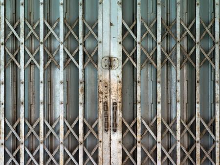 old Steel door and double handle Stock Photo - 10703496
