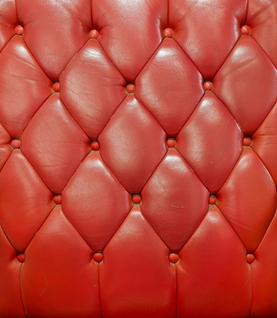 Texture of red leather vintage sofa for background photo