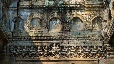certain: A Hall of Dancers is a structure of a type found in certain late 12th century temples constructed under King Jayavarman VII  Ta Prohm, Preah Khan, Angkor Stock Photo