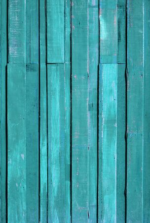 Texture of Green color paint plank vertical wall for background Stock Photo - 12605543