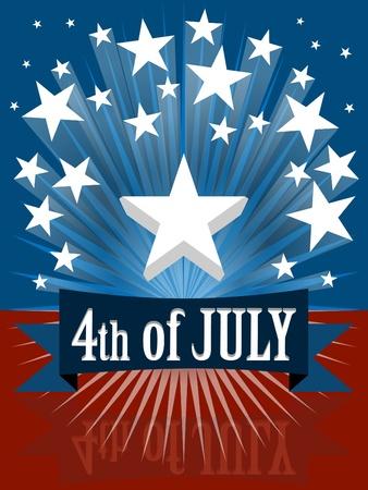 independencia: El cuarto de julio d�a de la independencia de la bandera Vectores