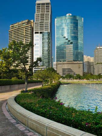 bangkok city: General Building and Blue sky Bright Day in Bangkok