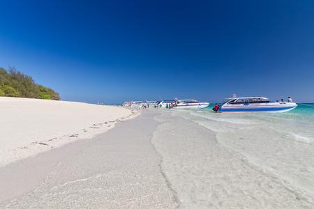 Beautiful White sand beach at Phi Phi Island , Krabi , Thailand